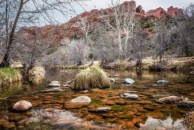 Photograph - Oak Creek And Cathedral Rock From Red Rock Crossing by Belinda Greb