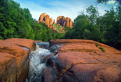 Photograph - Oak Creek And Cathedral Rock Sedona by Steven Barrows