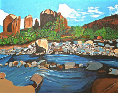 Painting - Oak Creek Canyon by Donna Blossom
