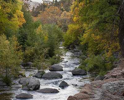 Art Print featuring the photograph Oak Creek Canyon by Joshua House