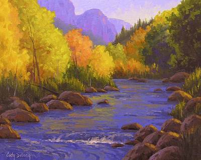 Creek Painting - Oak Creek Color Show by Cody DeLong