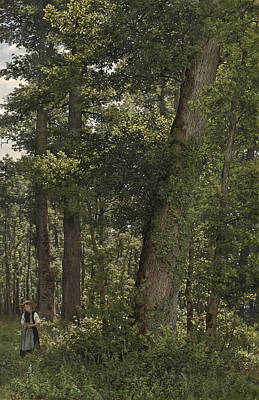 Park Scene Painting - Oak Forest by Celestial Images