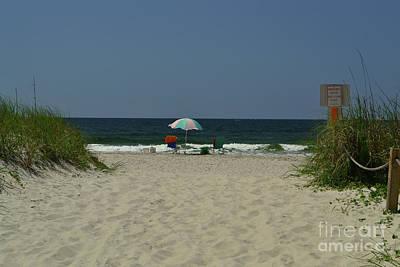 Photograph - Oak Island Beach Vacancy by Amy Lucid