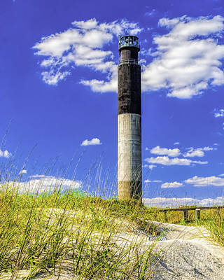 Photograph - Oak Island Lighthouse by Nick Zelinsky