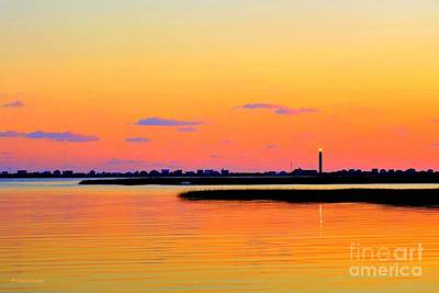 Photograph - Oak Island Lighthouse Sunset by Shelia Kempf