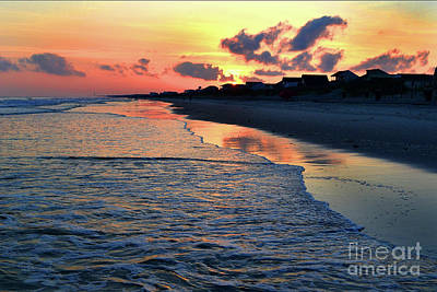 Photograph - Oak Island Pastel Sunset by Amy Lucid