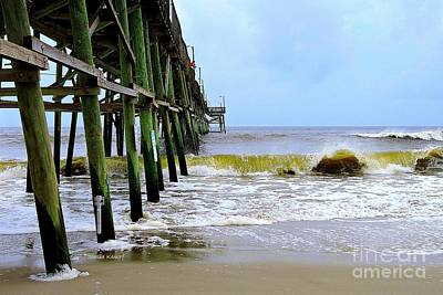 Photograph - Oak Island Pier Before H.matthew by Shelia Kempf