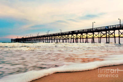 Photograph - Oak Island Pier by Kelly Nowak