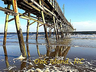 Painting - Oak Island Pier Poster by Shelia Kempf