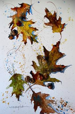Painting - Oak Leaves by Sandra Strohschein