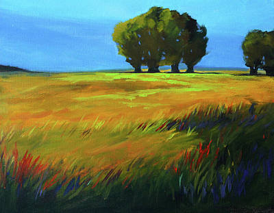 Painting - Oak Meadow Landscape by Nancy Merkle