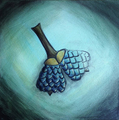 Painting - Oak Nuts Shimmy by Anna Elkins