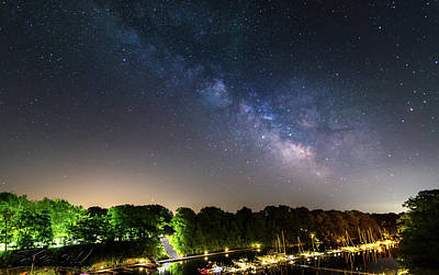 Photograph - Oak Orchard Milky Way by Steven Wilson
