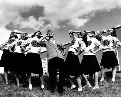 Photograph - Oak Ridge High School Cheerleaders 1946 by Ed Westcott