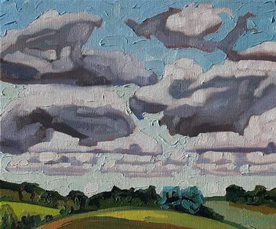 Gusts Painting - Oak Ridges Cumulus by Phil Chadwick
