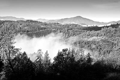 Photograph - Oak Run Mountains B And W by Joyce Dickens