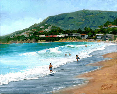 Painting - Oak Street Beach, Laguna Beach by Alice Leggett