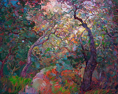Filtered Painting - Oak Tapestries by Erin Hanson