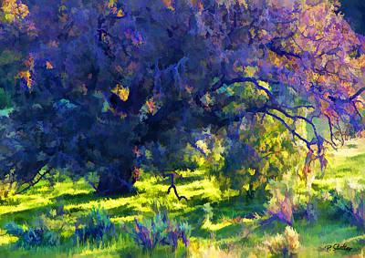 Colorful Abstract Digital Art - Oak Tree Abstract by Patricia Stalter