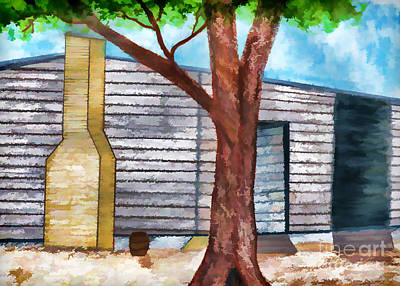 Oak Tree By The Cracker Cabin Art Print