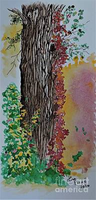 Ruff Mixed Media - Oak Tree by Lise PICHE