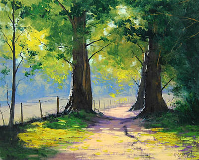 Gercken Painting - Oak Tree Trail by Graham Gercken