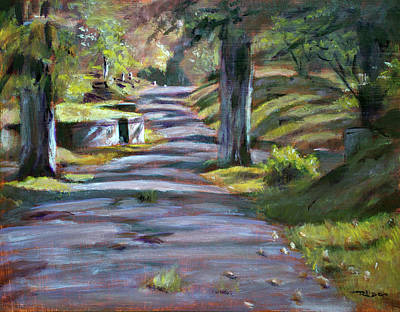Painting - Oakdale Path by Christopher Reid