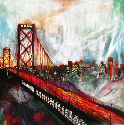 Painting - Oakland Bay Bridge 223 1  by Mawra Tahreem