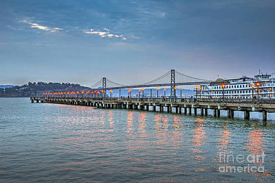 Photograph - Oakland Bay Bridge Belle Sternwheeler by David Zanzinger