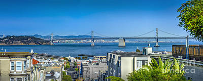 Photograph - Oakland Bay Bridge Panorama by David Zanzinger