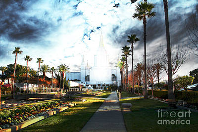 Photograph - Oakland California Temple . The Church Of Jesus Christ Of Latter-day Saints by Wingsdomain Art and Photography