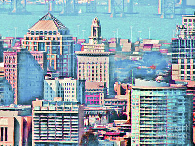 Photograph - Oakland City Hall And The Oakland Skyline 20180515 by Wingsdomain Art and Photography