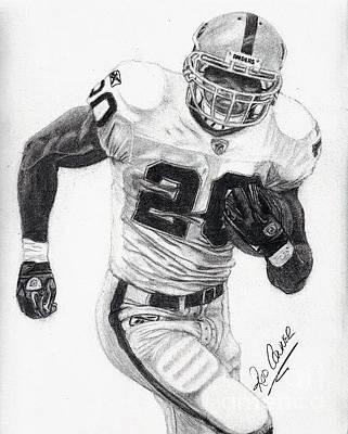 Oakland Raiders Drawing - Oakland Raider Darren Mcfadden by Rod Conner