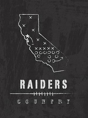 Oakland Raiders Art - Nfl Football Wall Print Art Print by Damon Gray