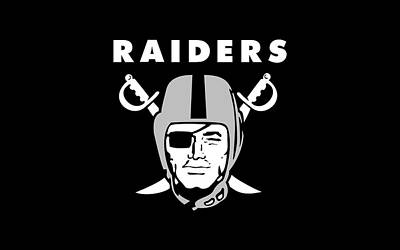 Black Digital Art - Oakland Raiders by Maye Loeser