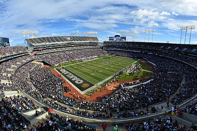 Photograph - Oakland Raiders O.co Coliseum by Mark Whitt