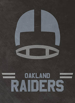 Mixed Media - Oakland Raiders Vintage Art by Joe Hamilton