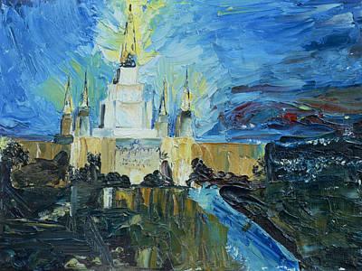 Monochrome Landscapes - Oakland Temple by Nila Jane Autry