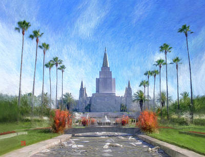 Lds Painting - Oakland Temple No. 1 by Geoffrey Lewis