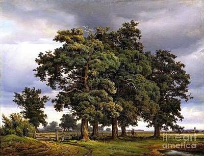 Painting - Oaks by Reproduction