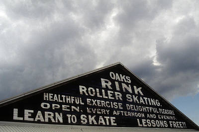 Oaks Skating Rink Art Print