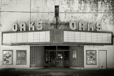 Photograph - Oaks Theatre by Bud Simpson
