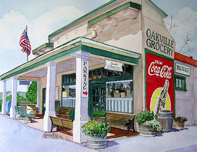 Wine Country Painting - Oakville Grocery by Gail Chandler