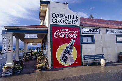 Coca-cola Sign Photograph - Oakville Grocery Store Napa Valley by George Oze