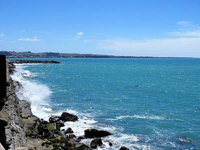 Photograph - Oamaru Breakwater by Nancy Pauling