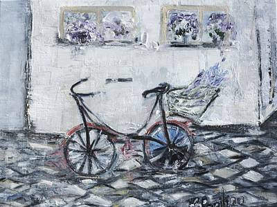 Painting - Oana's Bike by Evelina Popilian