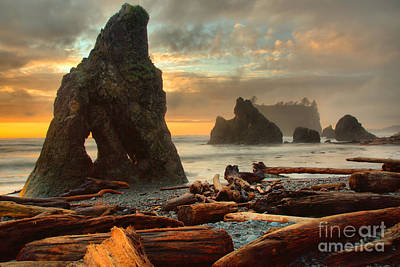 Photograph - Oange Skies Over Ruby Beach by Adam Jewell