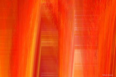 Painter Mixed Media - Oange Storm  by Thibault Toussaint