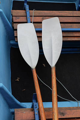Photograph - Oars At Rest by Debra and Dave Vanderlaan