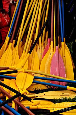 Photograph - Oars by Debra Fedchin